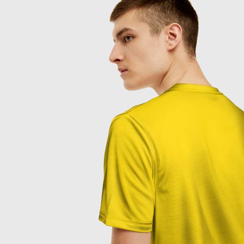 Мужская 3D футболка с принтом Сборная Швеции по Хоккею, вид сзади #2