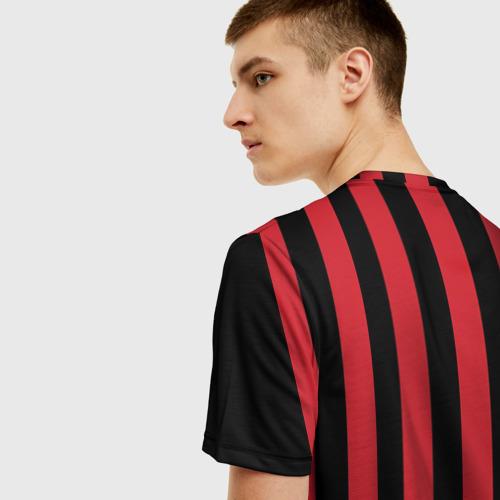 Мужская 3D футболка с принтом Милан, вид сзади #2
