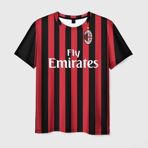 Мужская 3D футболка с принтом Милан, вид спереди #2