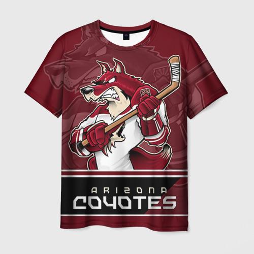 Мужская 3D футболка с принтом Arizona Coyotes, вид спереди #2