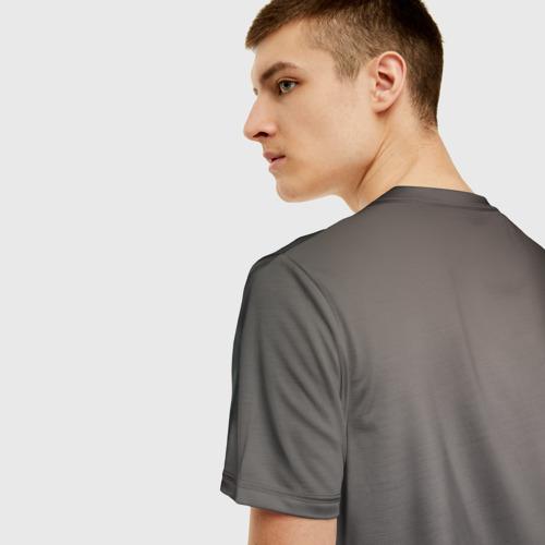 Мужская 3D футболка с принтом Wolf, вид сзади #2