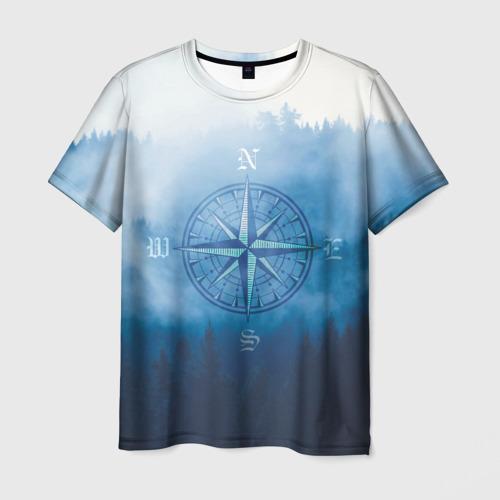 Мужская 3D футболка с принтом Приключения, вид спереди #2