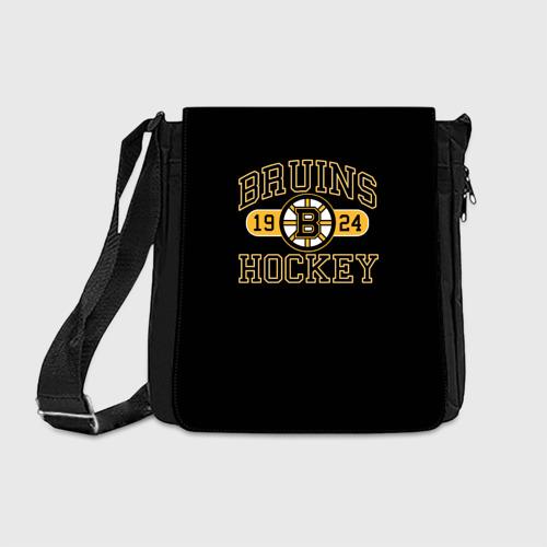 Сумка через плечо с принтом Boston Bruins, вид спереди #2