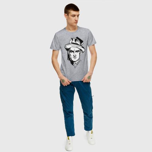 Мужская футболка с принтом Маяковский, вид сбоку #3