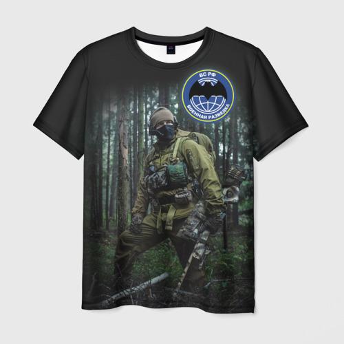 Мужская 3D футболка Военная разведка
