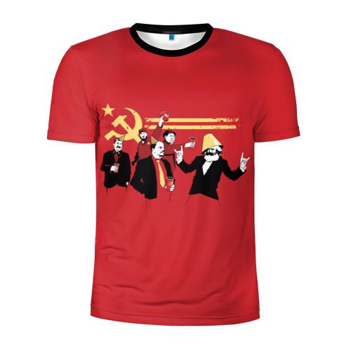Мужская футболка 3D спортивная с принтом Back in the USSR, вид спереди #2