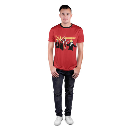 Мужская футболка 3D спортивная с принтом Back in the USSR, вид сбоку #3