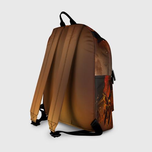 Рюкзак 3D с принтом Fire, вид сзади #1