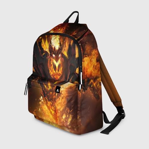 Рюкзак 3D с принтом Fire, вид спереди #2