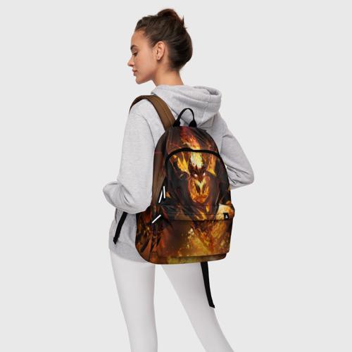 Рюкзак 3D с принтом Fire, фото #4