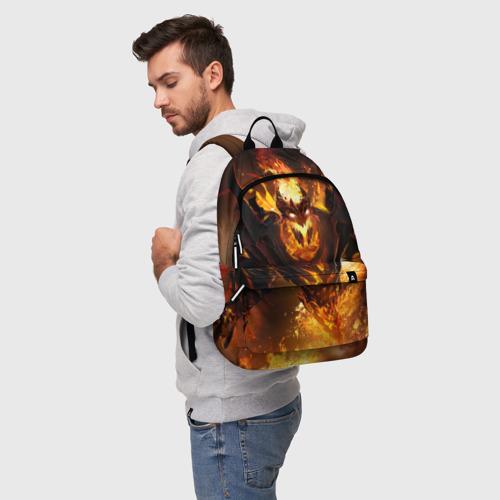 Рюкзак 3D с принтом Fire, фото на моделе #1