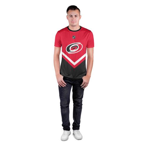 Мужская футболка 3D спортивная с принтом Carolina Hurricanes, вид сбоку #3