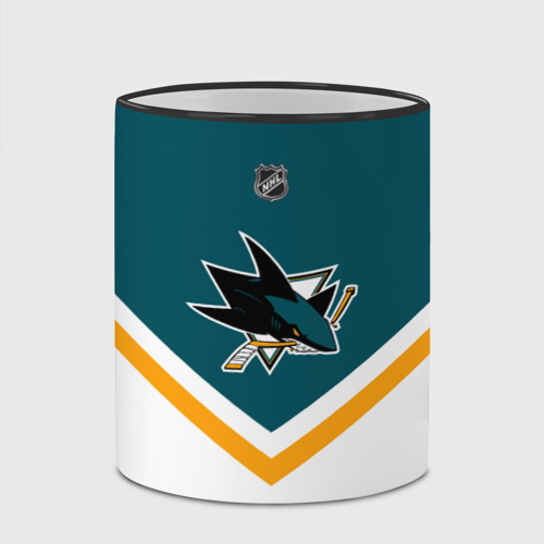 Кружка с полной запечаткой с принтом San Jose Sharks, вид сбоку #3