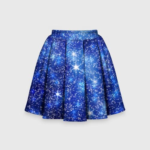 Детская юбка-солнце 3D Новогодний блеск