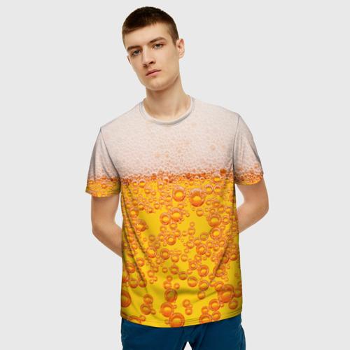 Мужская 3D футболка с принтом Пивная тема, фото на моделе #1