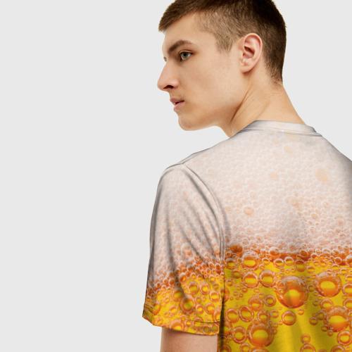 Мужская 3D футболка с принтом Пивная тема, вид сзади #2