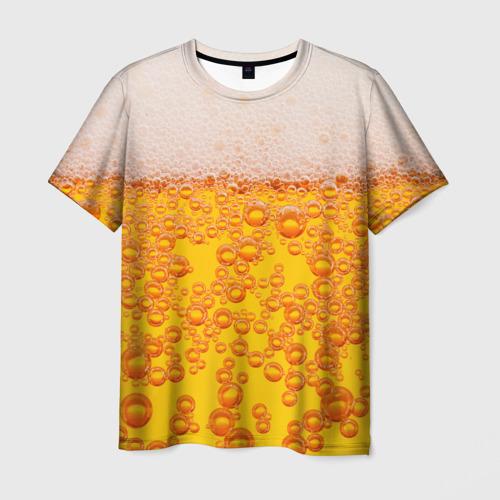 Мужская 3D футболка Пивная тема