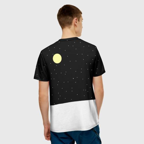 Мужская 3D футболка с принтом Симпсон - Санта Клаус, вид сзади #2