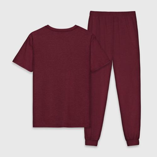 Мужская пижама хлопок с принтом Маркс, Энгельс, Ленин, вид сзади #1