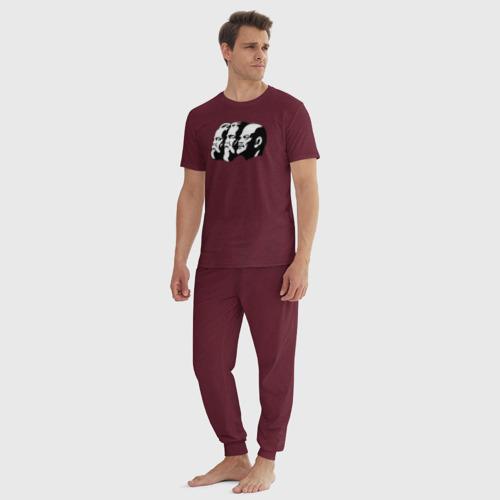Мужская пижама хлопок с принтом Маркс, Энгельс, Ленин, вид сбоку #3