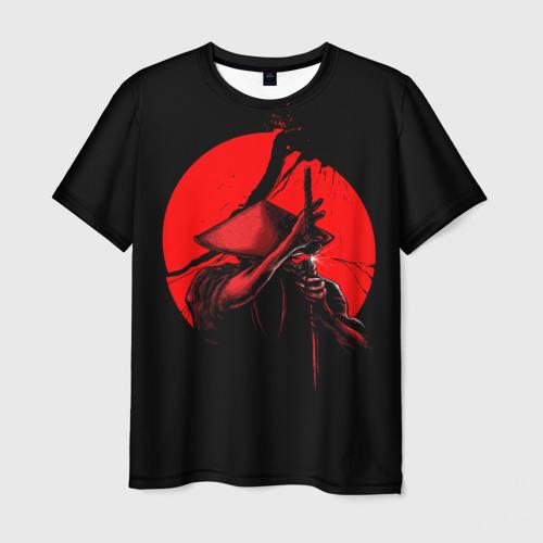 Мужская 3D футболка Сила самурая