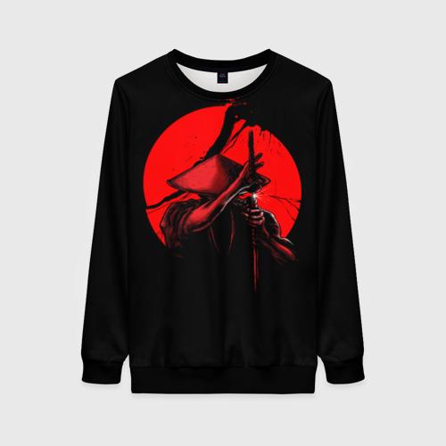 Женский 3D свитшот с принтом Сила самурая, вид спереди #2
