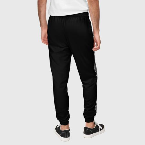 Мужские брюки 3D с принтом Лев, вид сзади #2