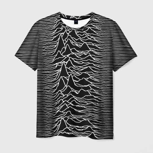 Мужская 3D футболка Joy Division Unknown Pleasures