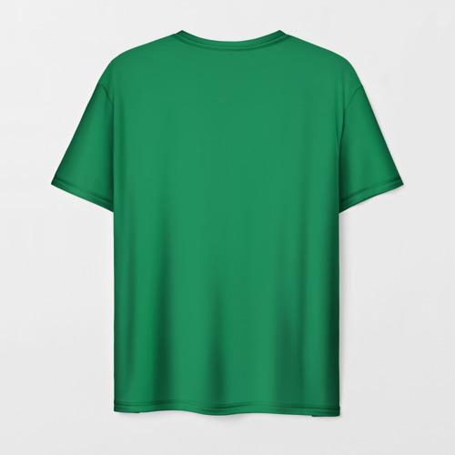 Мужская 3D футболка с принтом Бостон, вид сзади #1