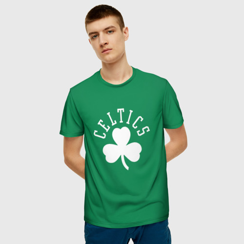 Мужская 3D футболка с принтом Бостон, фото на моделе #1