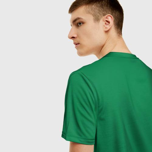 Мужская 3D футболка с принтом Бостон, вид сзади #2