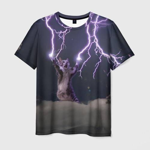Мужская 3D футболка Грозовой кошак