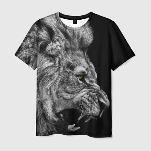 Мужская 3D футболка Лев