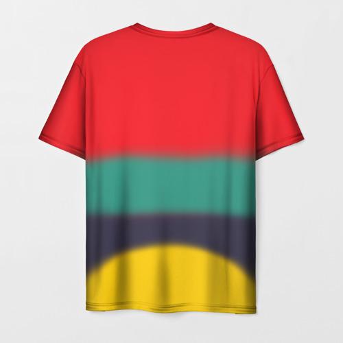 Мужская 3D футболка с принтом Led Zeppelin 3, вид сзади #1