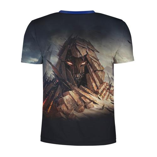Мужская футболка 3D спортивная с принтом Disturbed 8, вид сзади #1