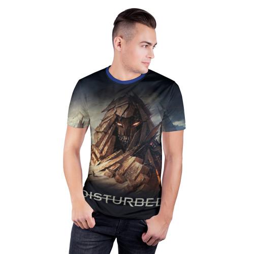 Мужская футболка 3D спортивная с принтом Disturbed 8, фото на моделе #1
