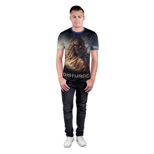 Мужская футболка 3D спортивная с принтом Disturbed 8, вид сбоку #3