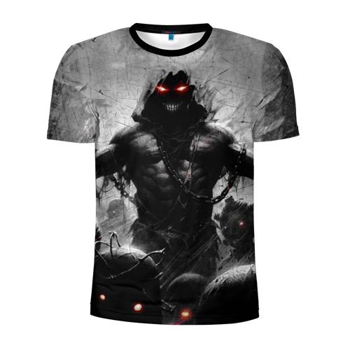 Мужская футболка 3D спортивная с принтом Disturbed 9, вид спереди #2