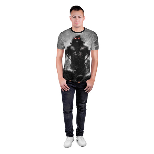 Мужская футболка 3D спортивная с принтом Disturbed 9, вид сбоку #3