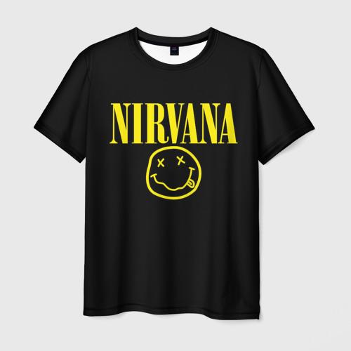 Мужская 3D футболка Nirvana