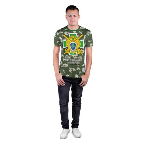 Мужская футболка 3D спортивная с принтом За службу на Дальнем Востоке, вид сбоку #3
