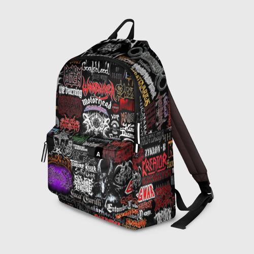 Рюкзак 3D с принтом Hard Rock, вид спереди #2