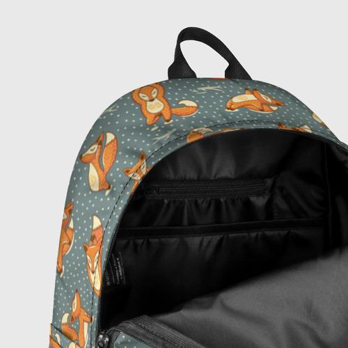 Рюкзак 3D с принтом Foxes yoga, фото #7