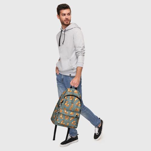 Рюкзак 3D с принтом Foxes yoga, фото #5