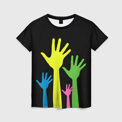 Женская 3D футболка Руки вверх!