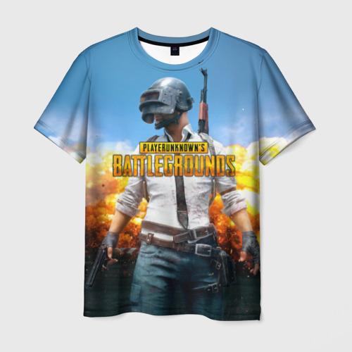 Мужская 3D футболка Playerunknown`s battlegrounds 1