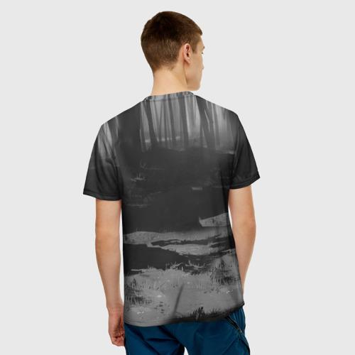 Мужская 3D футболка с принтом Курьер 1, вид сзади #2