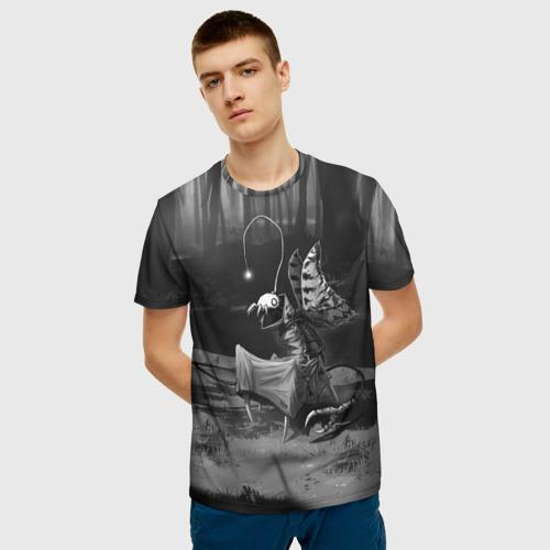 Мужская 3D футболка с принтом Курьер 1, фото на моделе #1