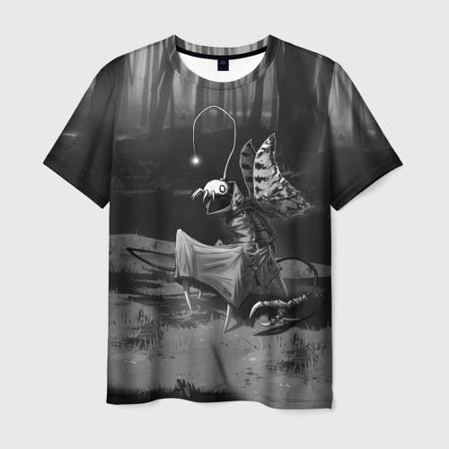 Мужская 3D футболка с принтом Курьер 1, вид спереди #2