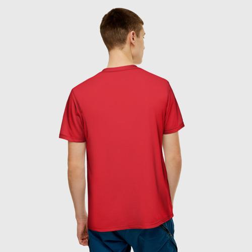 Мужская 3D футболка с принтом Fallout, вид сзади #2